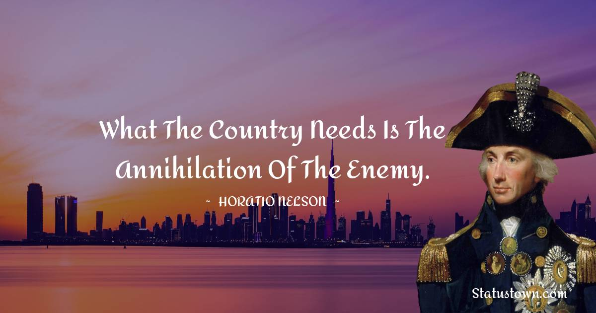 Horatio Nelson Motivational Quotes