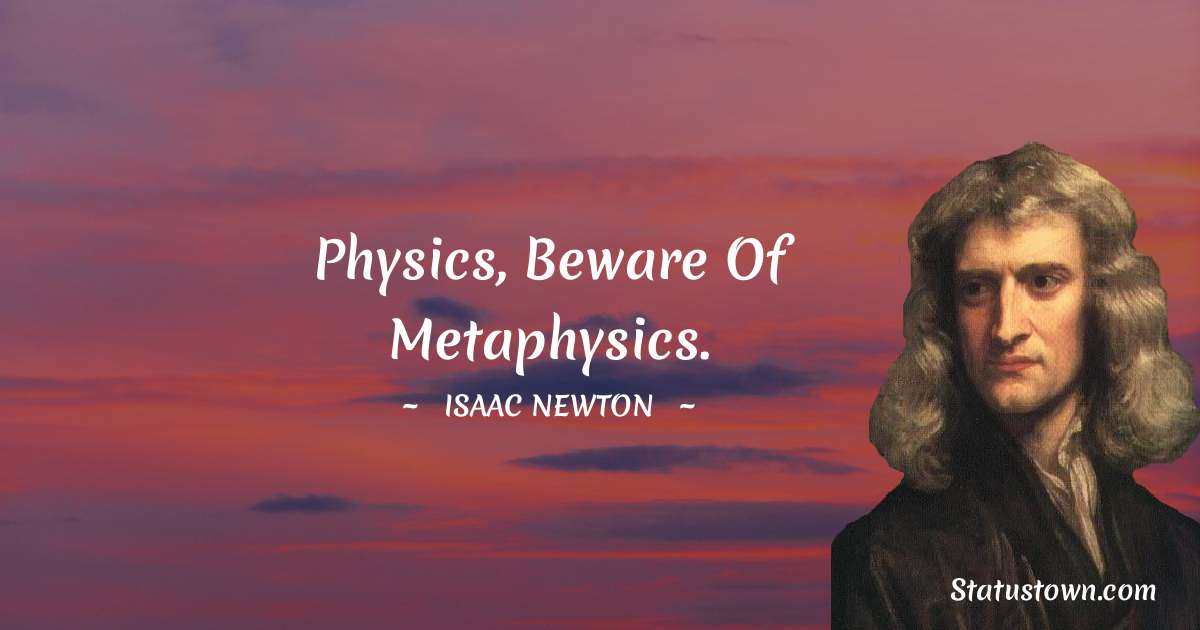 Isaac Newton Short Quotes