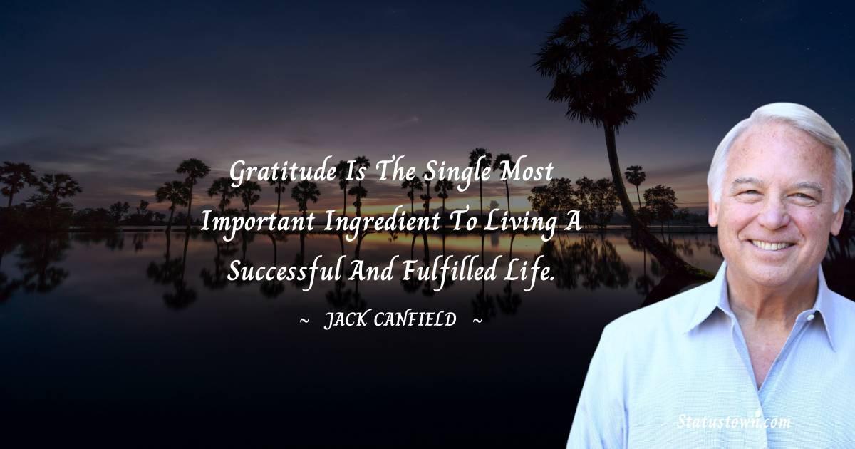 Jack Canfield Unique Quotes