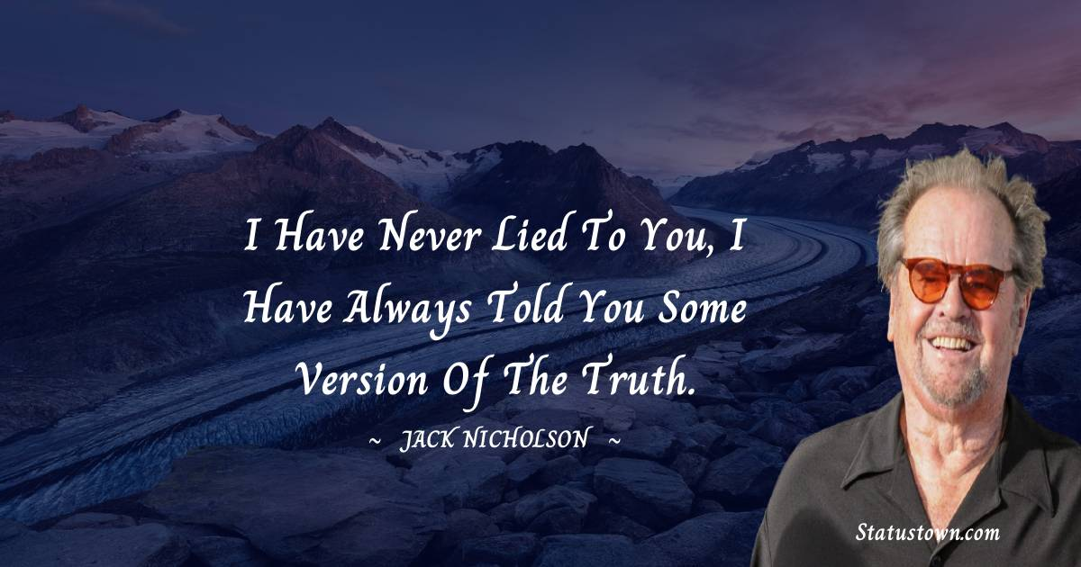 Jack Nicholson Positive Thoughts