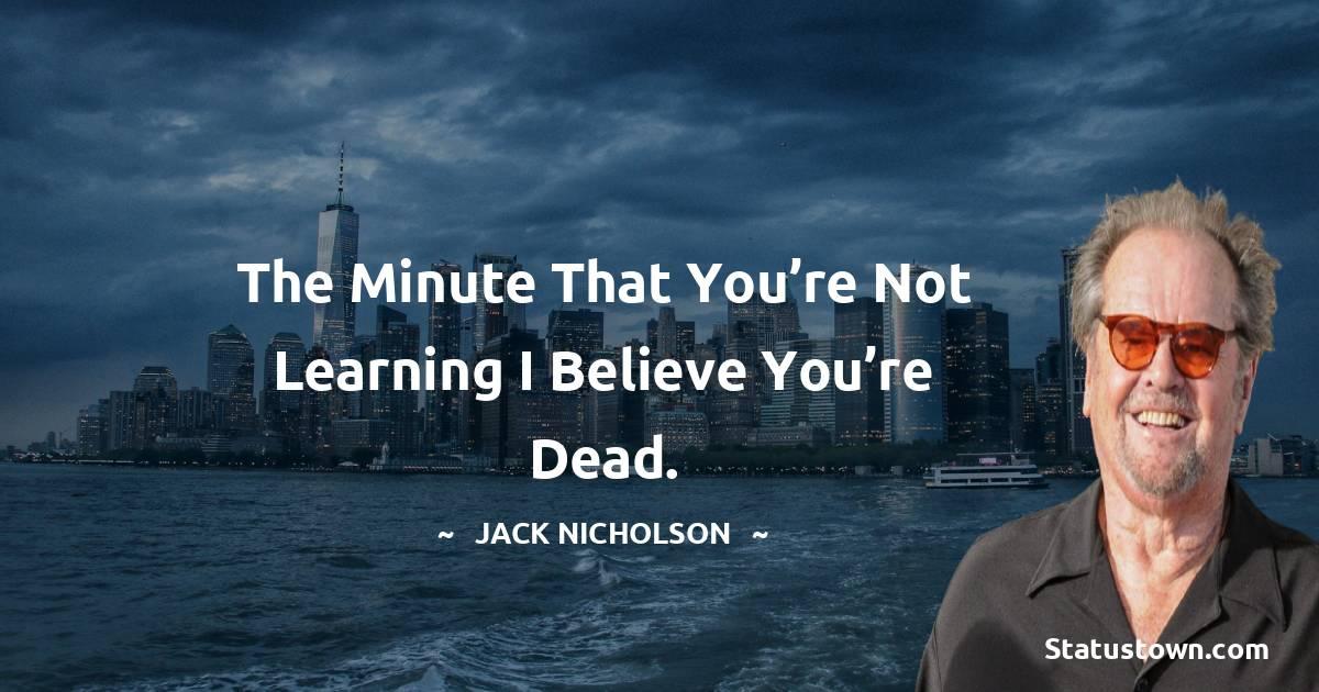 Jack Nicholson Thoughts