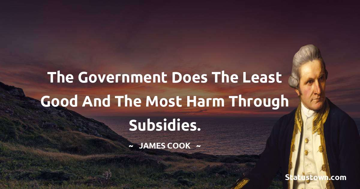 The government does the least good and the most harm through subsidies.
