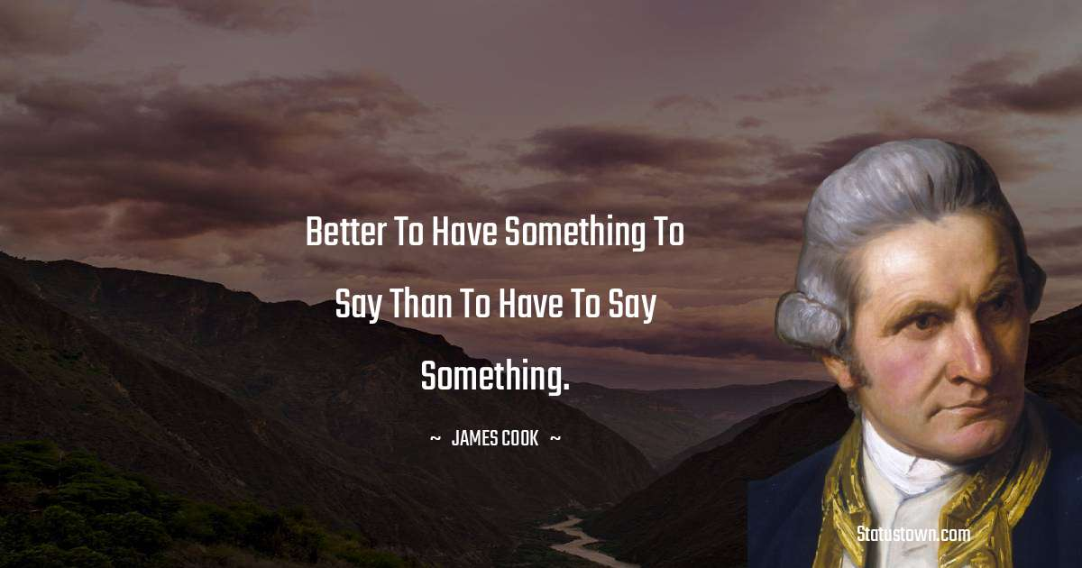 james Cook Thoughts