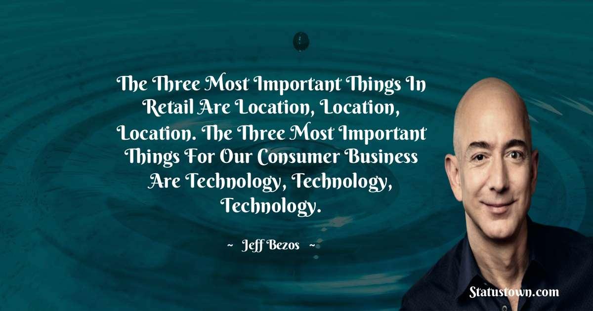 Jeff Bezos Short Quotes
