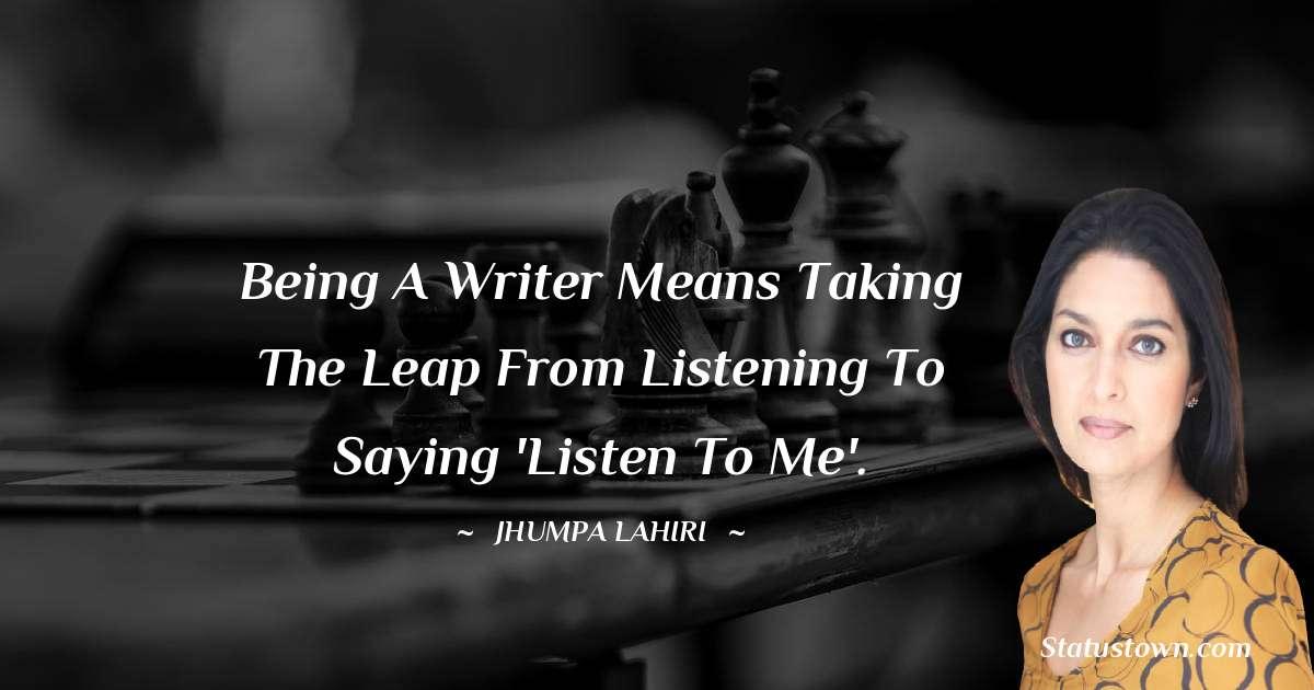 Jhumpa Lahiri Positive Quotes