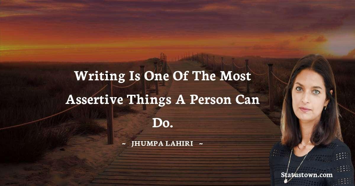 Jhumpa Lahiri Thoughts
