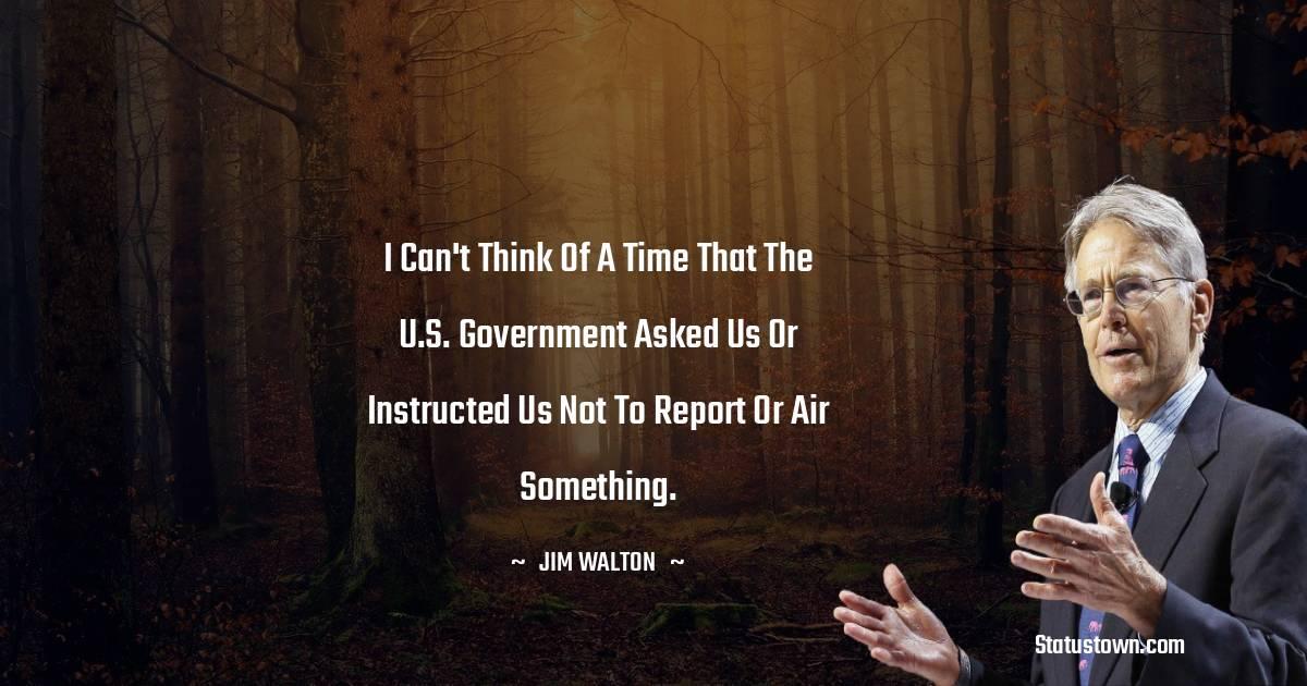 Jim Walton Status