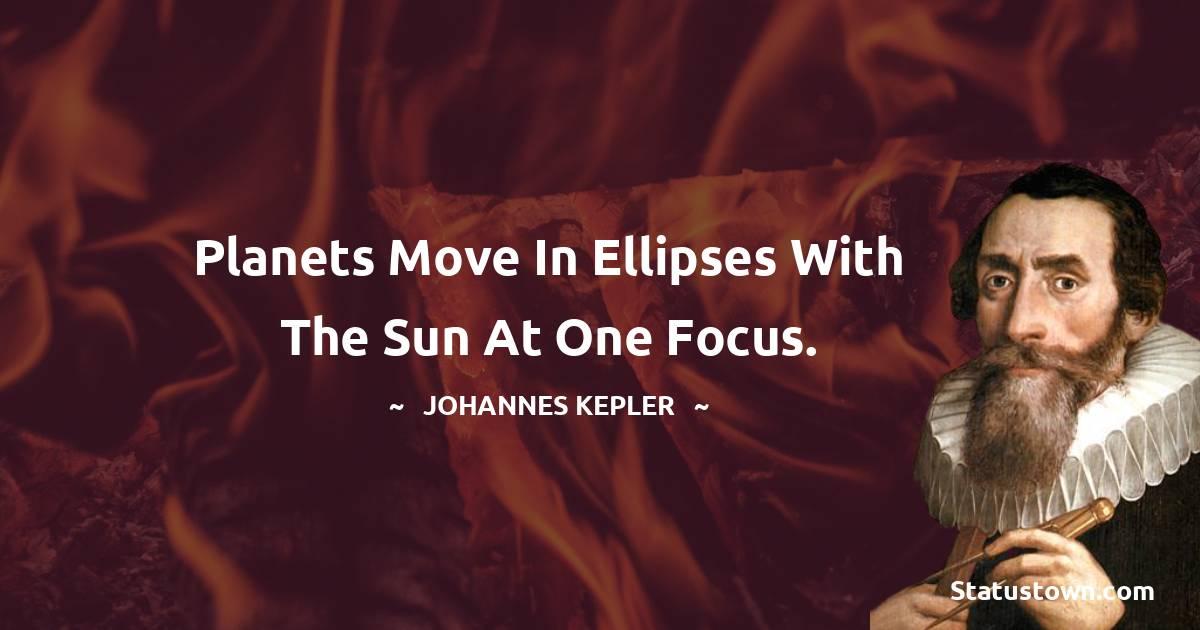 Johannes Kepler Unique Quotes