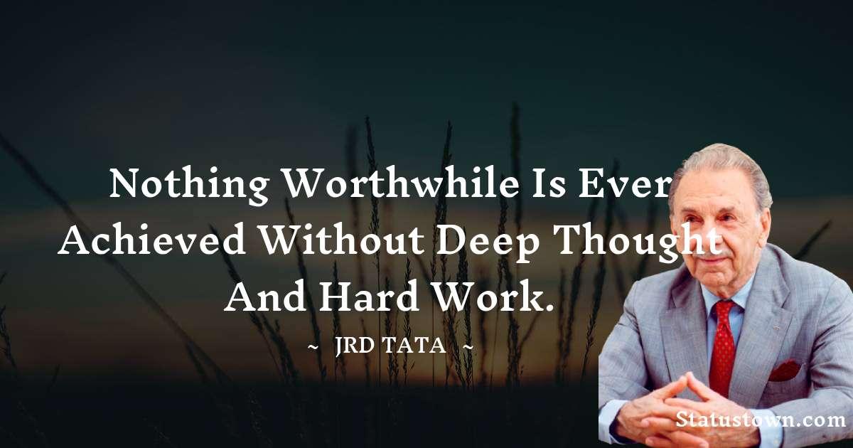 JRD Tata Quotes