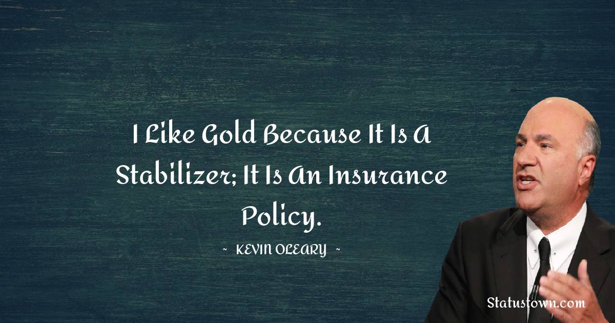 I like gold because it is a stabilizer; it is an insurance policy.