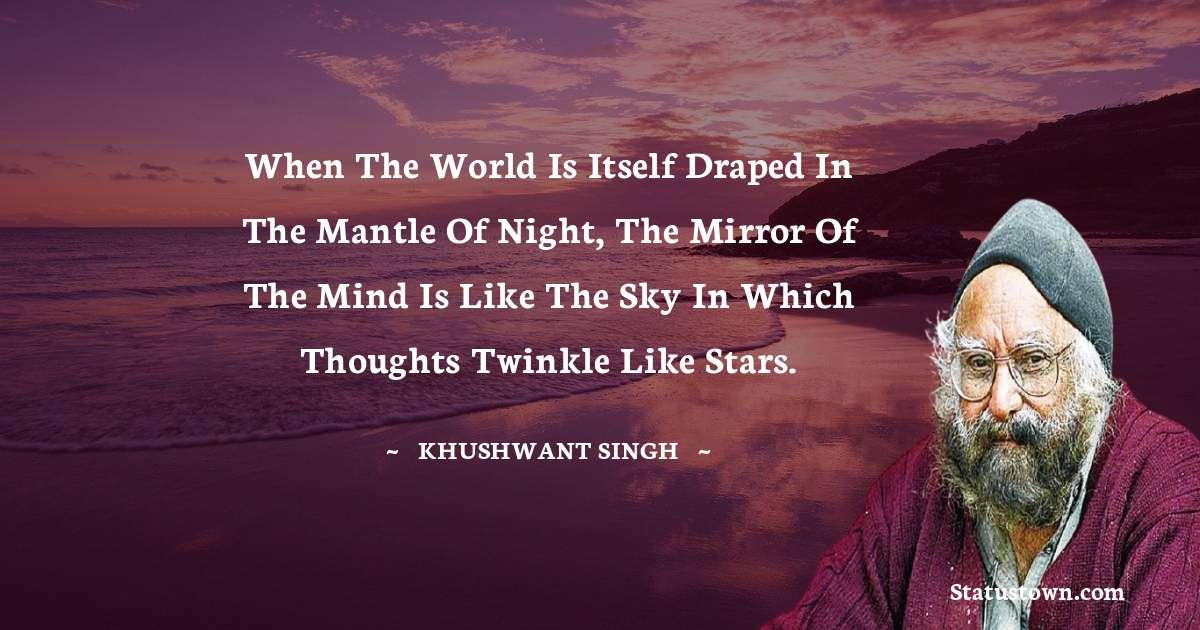 Khushwant Singh whatsapp status