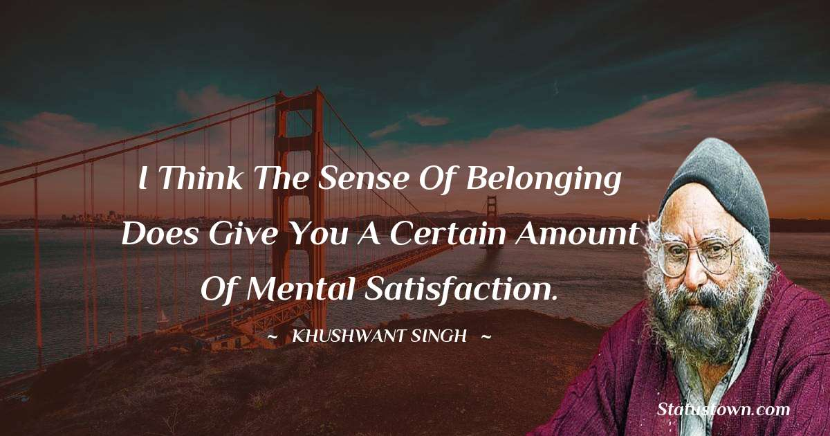 Khushwant Singh inspirational quotes