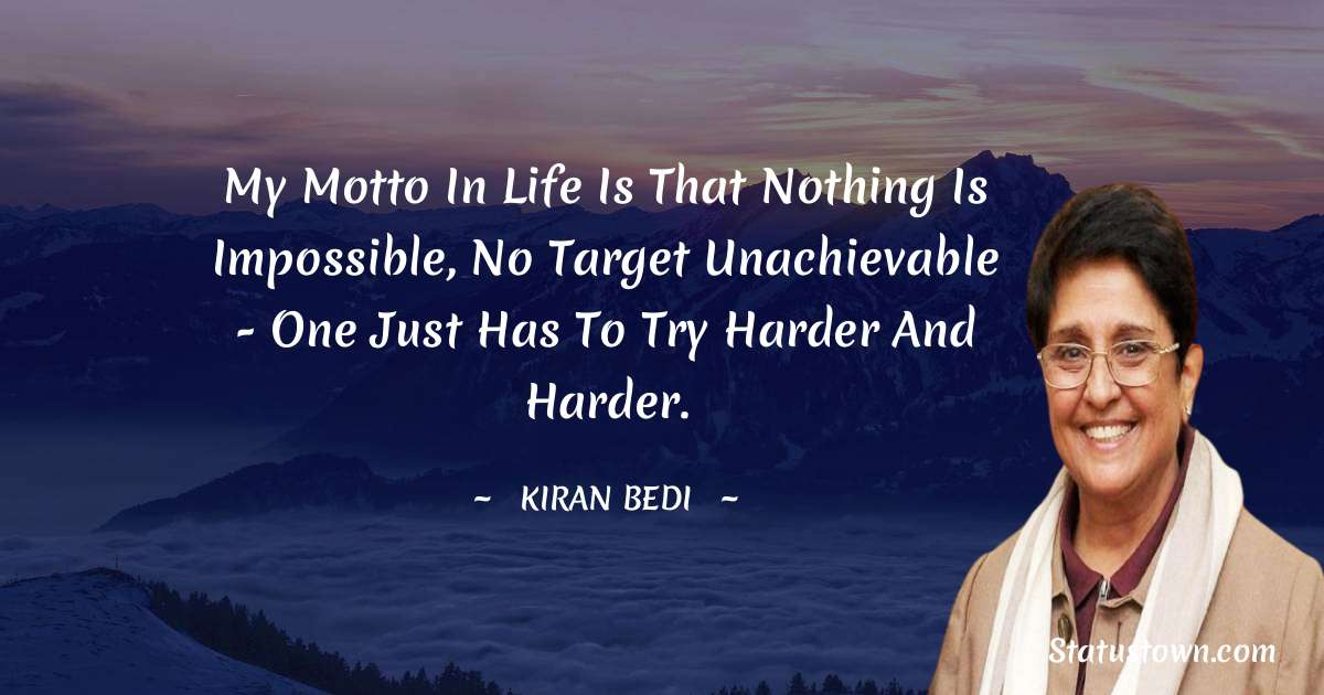 Kiran Bedi inspirational quotes