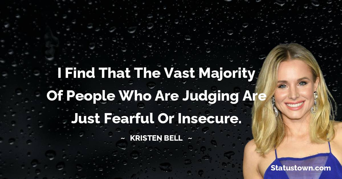 Kristen Bell Positive Quotes