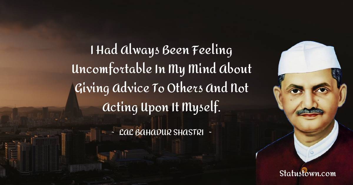 Lal Bahadur Shastri Motivational Quotes