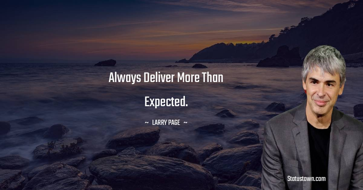 Larry Page Positive Quotes