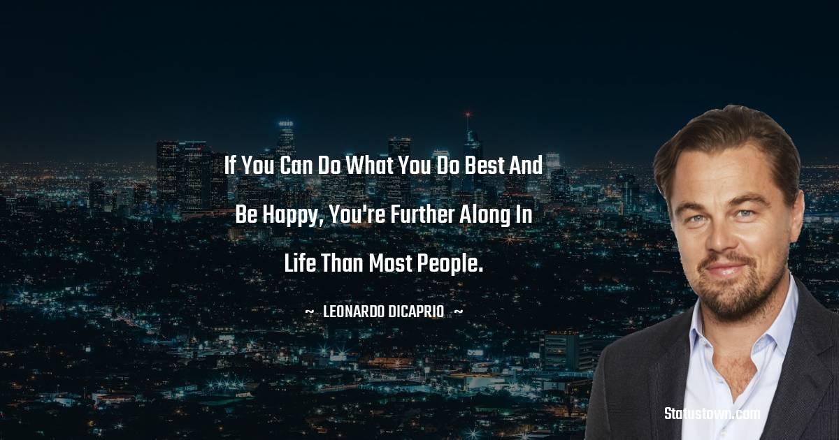 Leonardo DiCaprio Thoughts