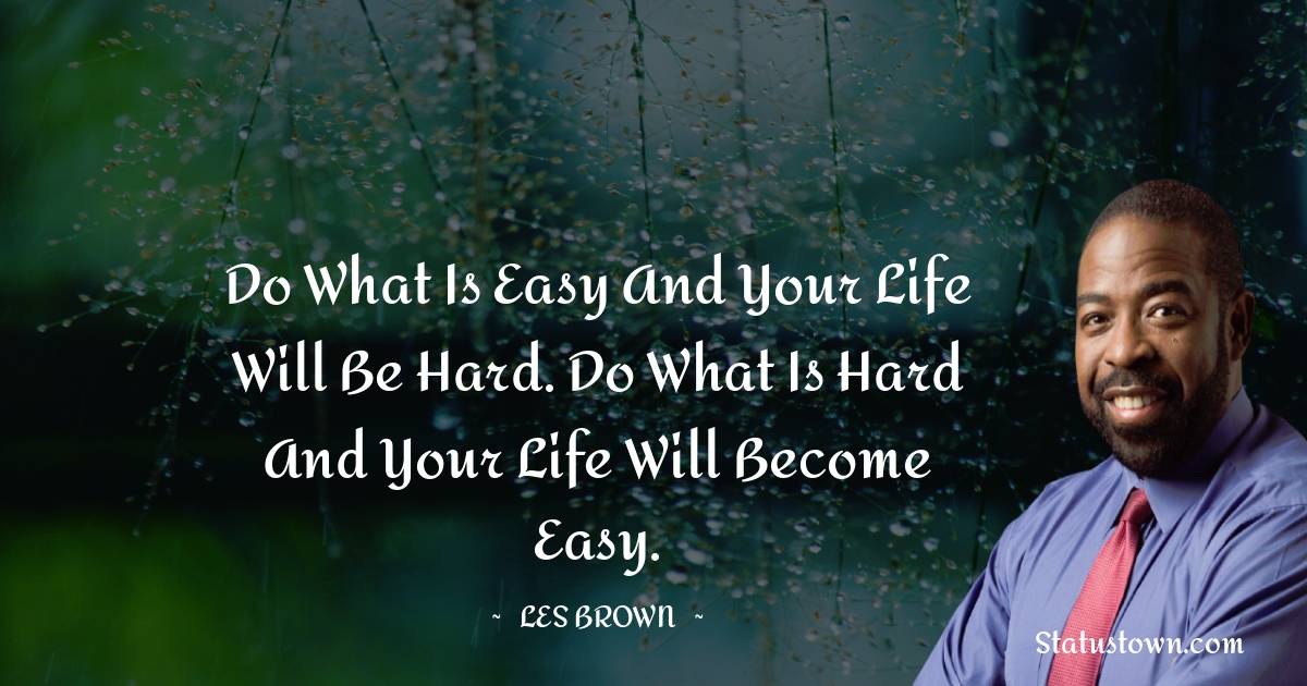 Les Brown Thoughts