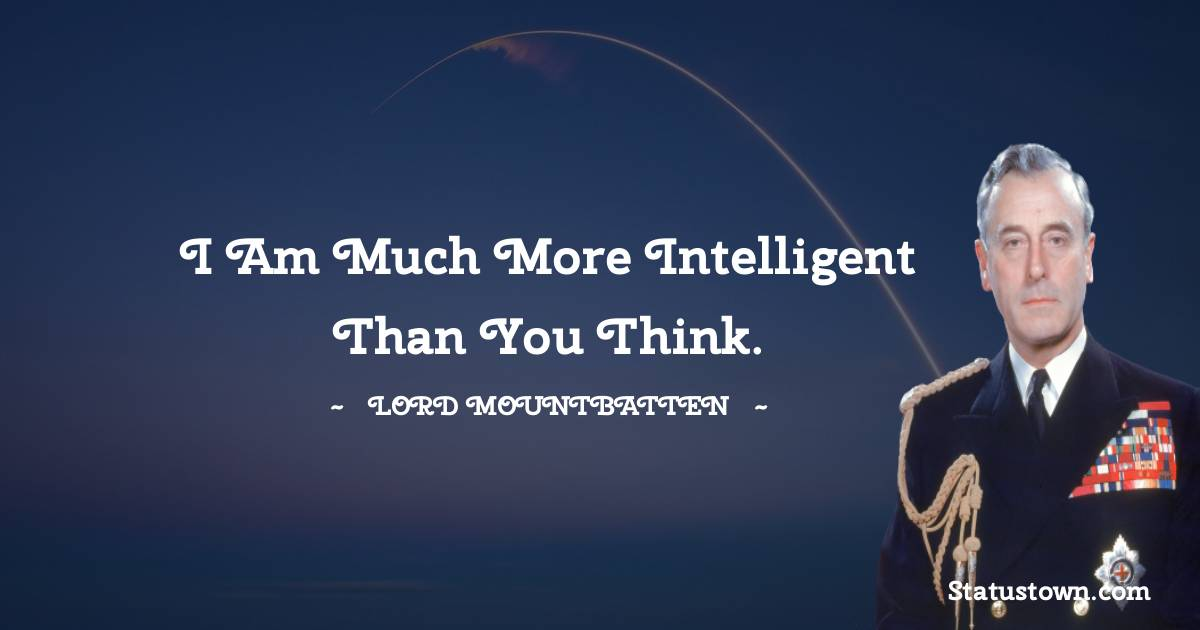 lord mountbatten Thoughts