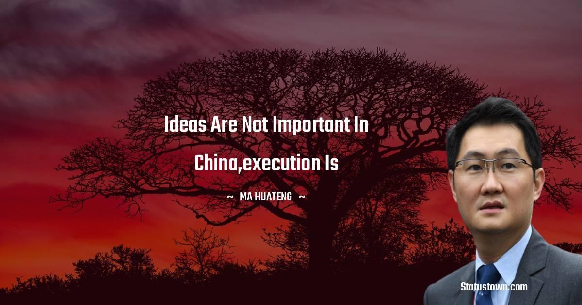 Ma Huateng Thoughts