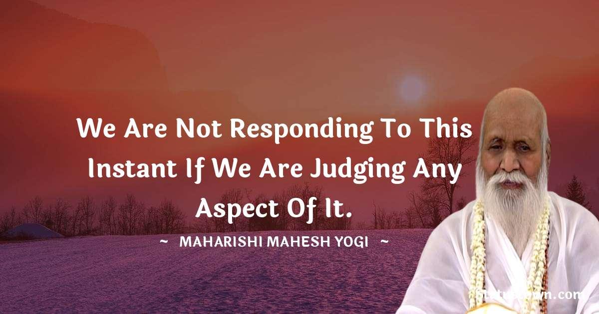 maharishi mahesh yogi Status
