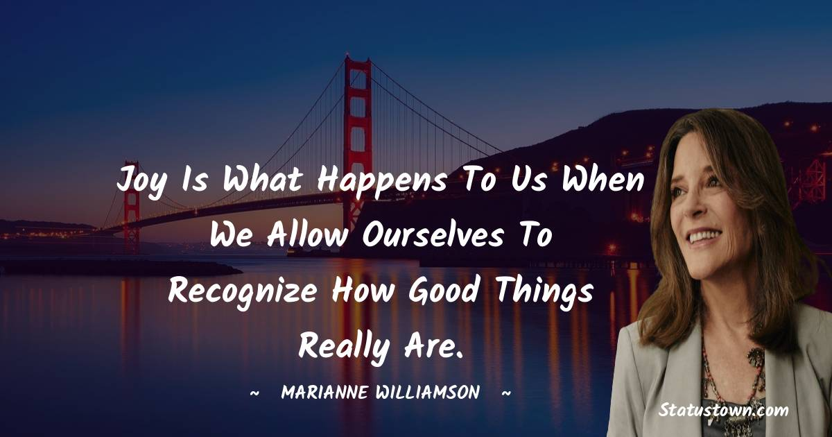 Marianne Williamson Positive Thoughts