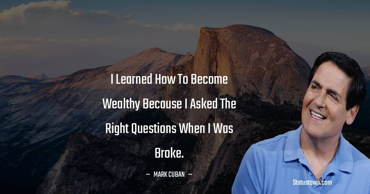 Mark Cuban Positive Thoughts