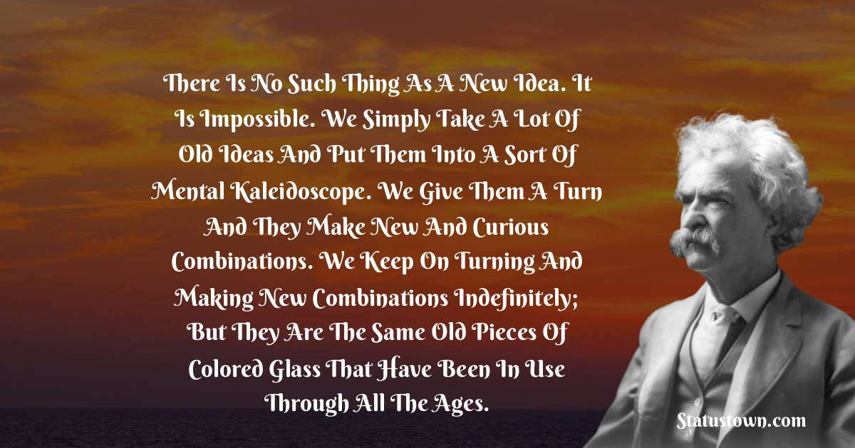 Mark Twain  Positive Thoughts