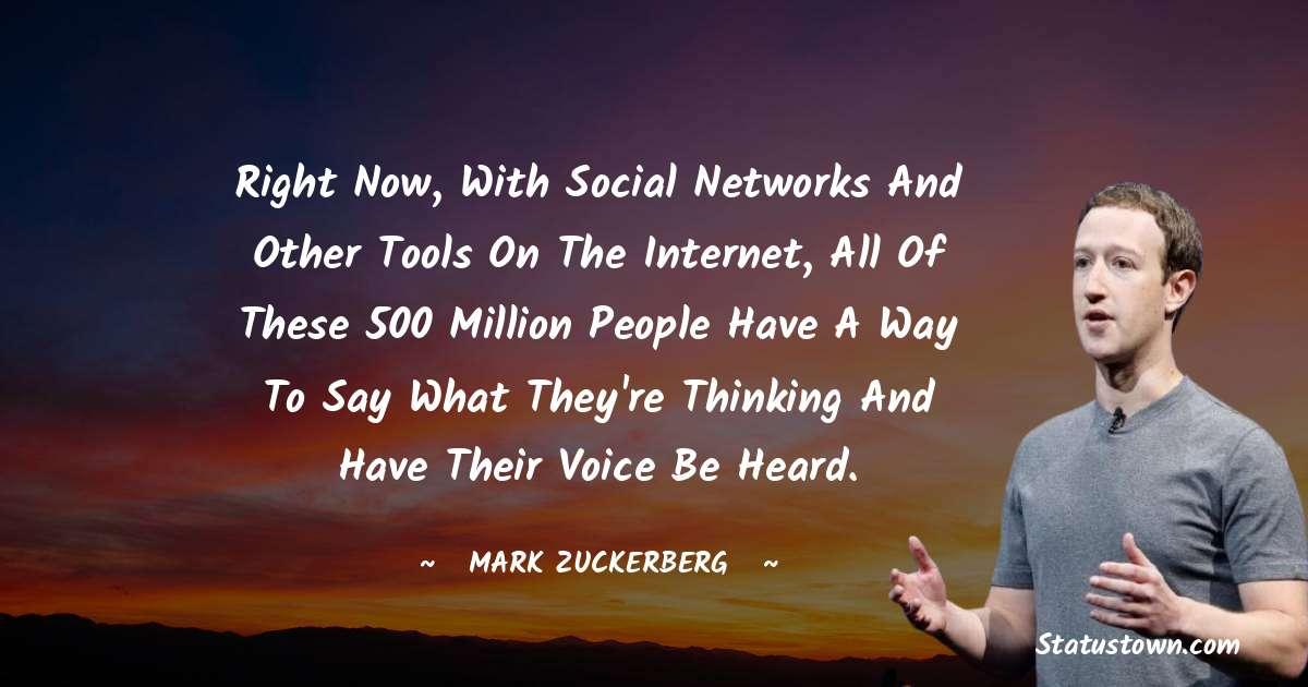 Mark Zuckerberg Status