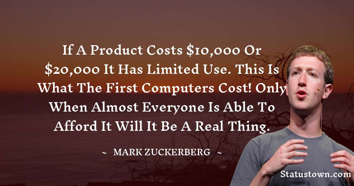 Mark Zuckerberg Thoughts