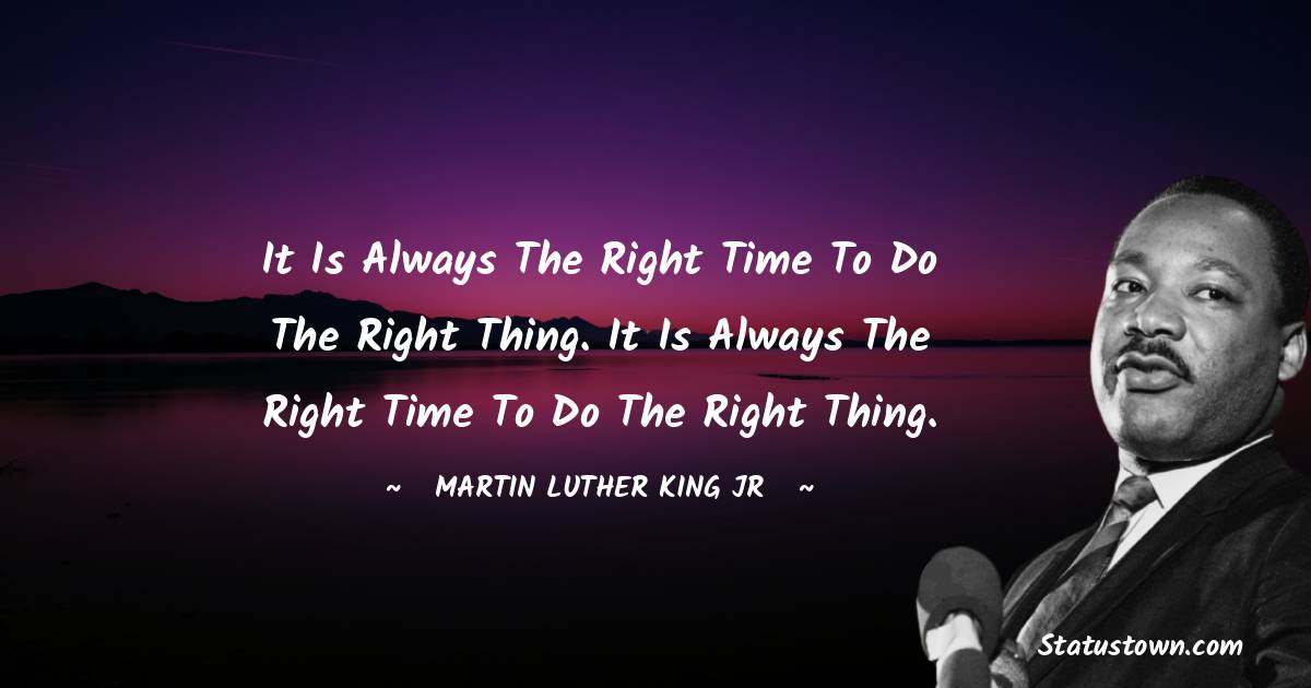Martin Luther King, Jr.  Positive Thoughts