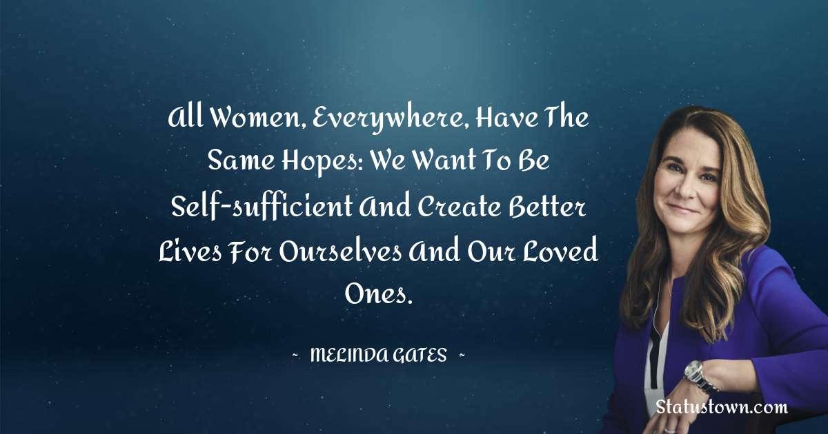 Melinda Gates Quotes images