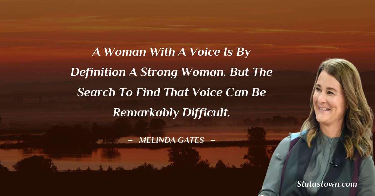 Melinda Gates Motivational Quotes