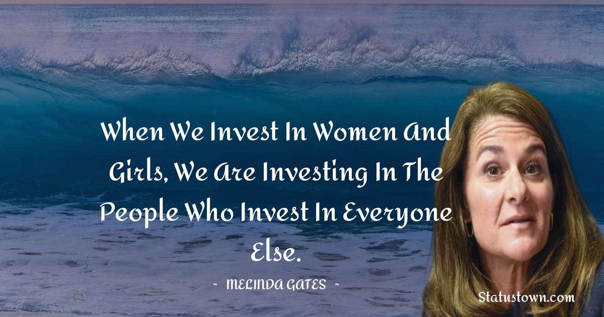 Melinda Gates Positive Quotes