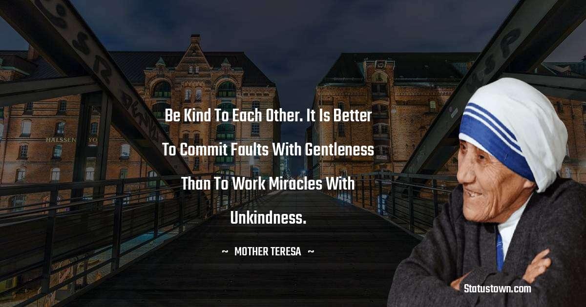 Mother Teresa Status