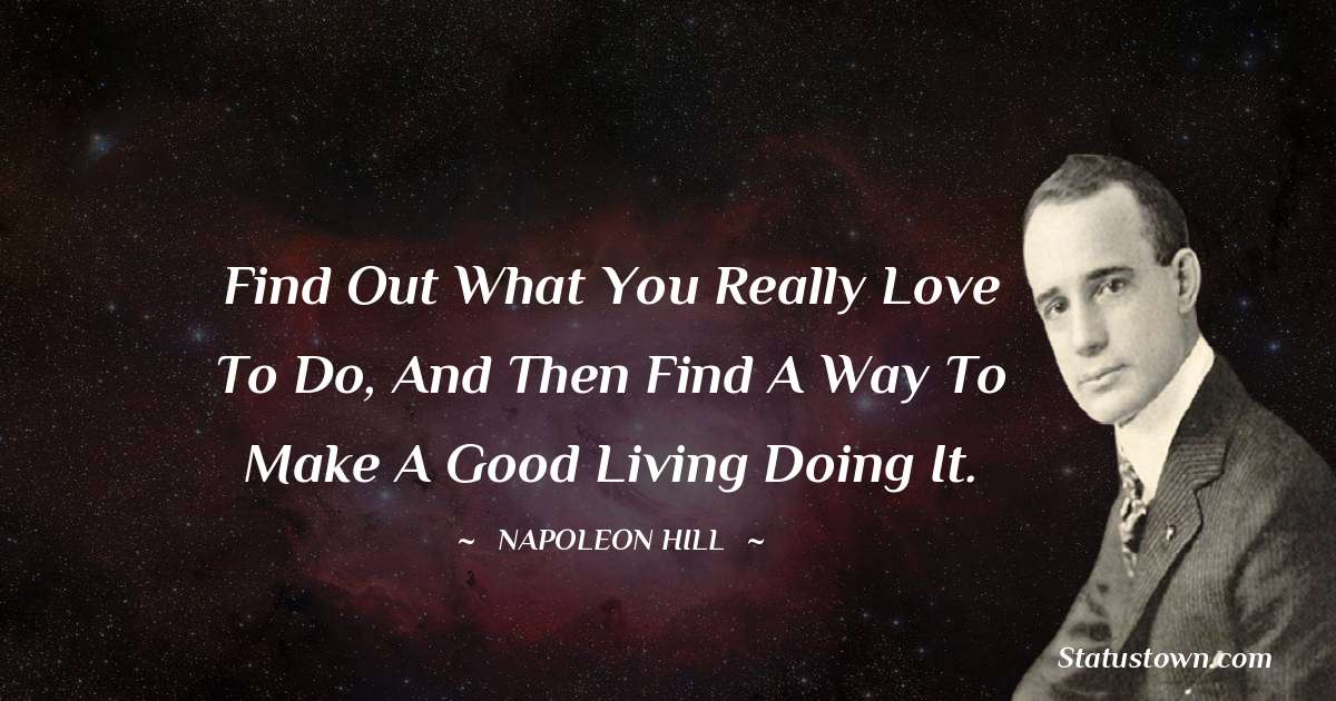 Napoleon Hill Positive Thoughts