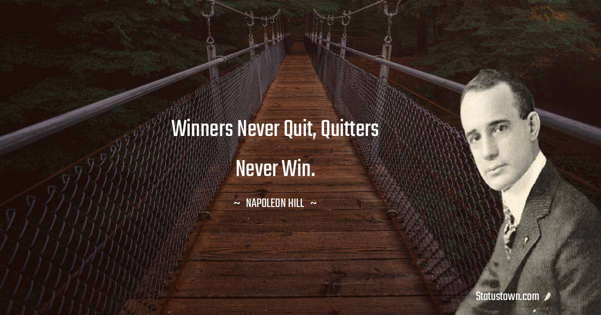 Napoleon Hill Inspirational Quotes
