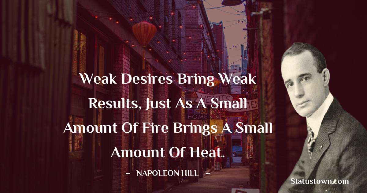 Napoleon Hill Thoughts