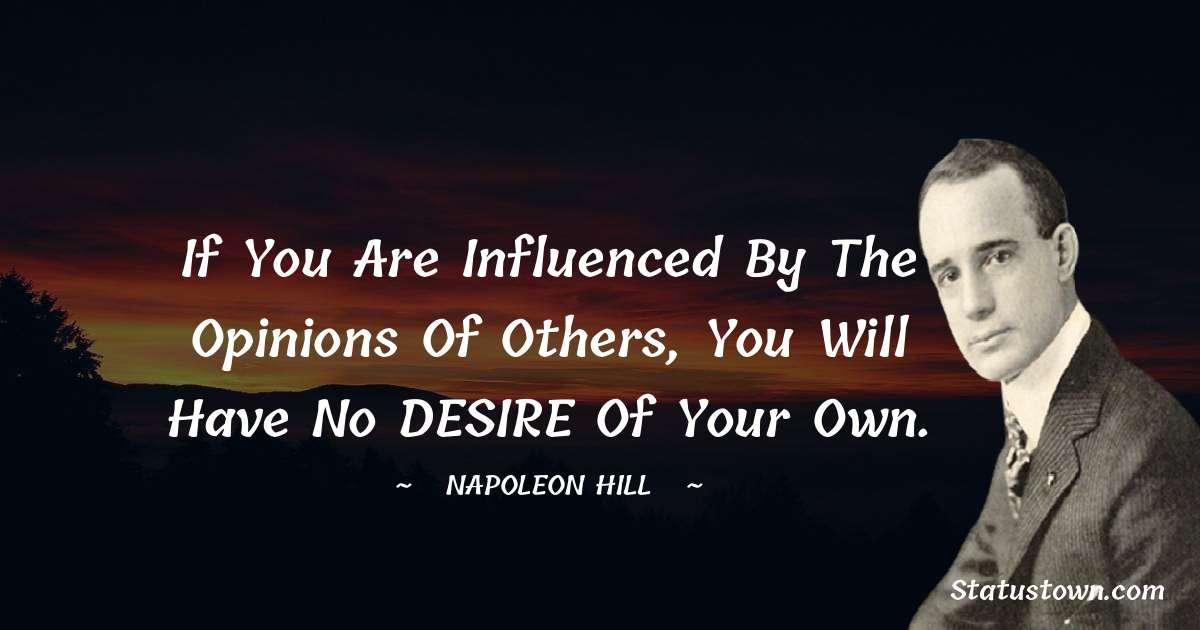 Napoleon Hill Unique Quotes