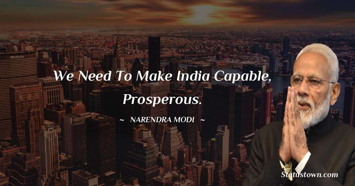 Narendra Modi Positive Quotes