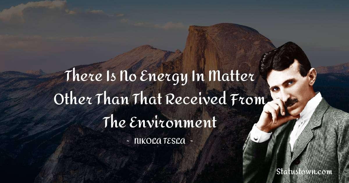 Nikola Tesla Positive Thoughts