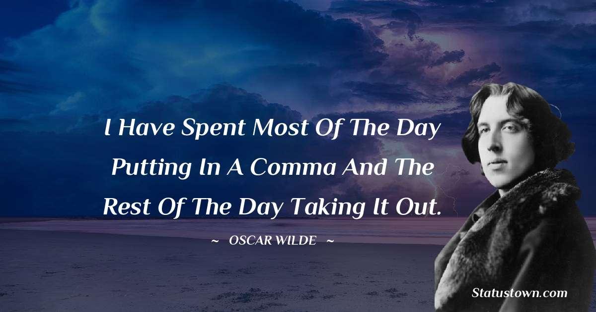 Oscar Wilde  Status