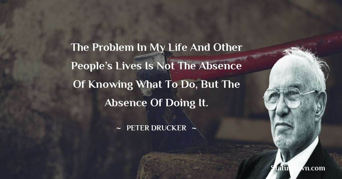 Peter Drucker Thoughts