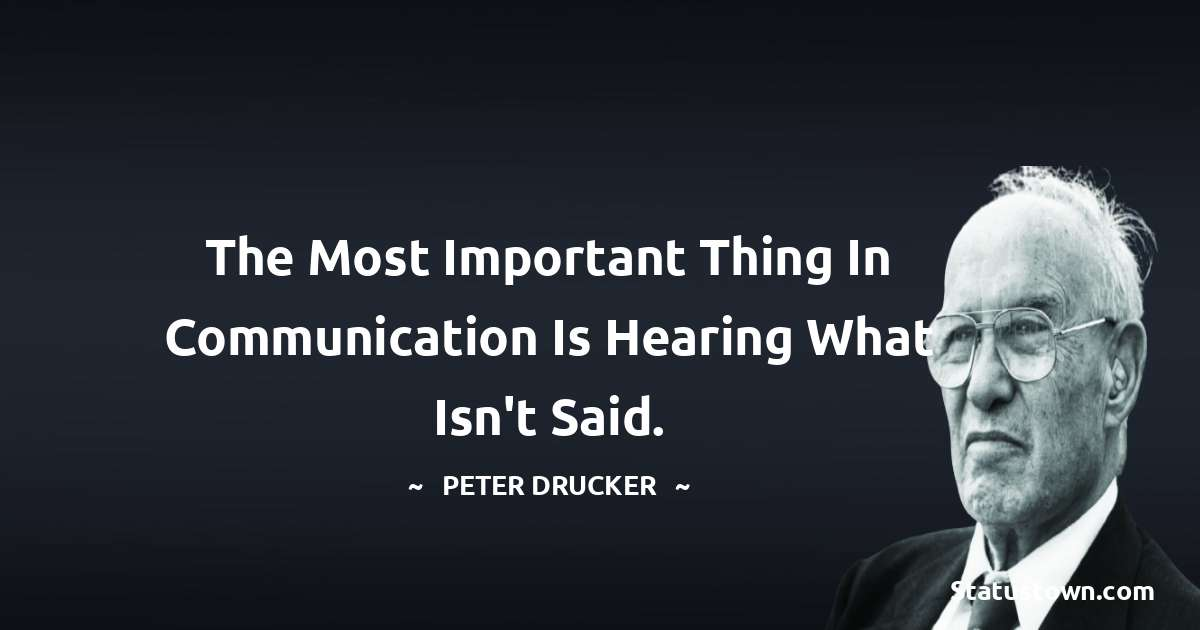 Peter Drucker Positive Thoughts