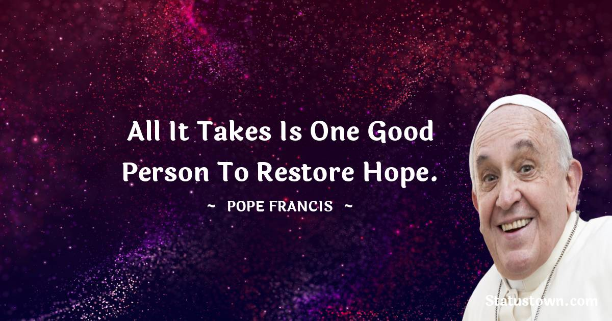 Pope Francis Positive Quotes
