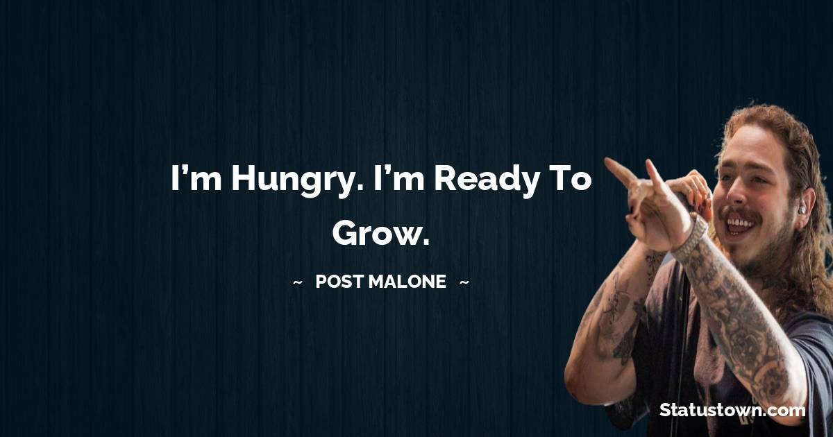 Post Malone Positive Quotes