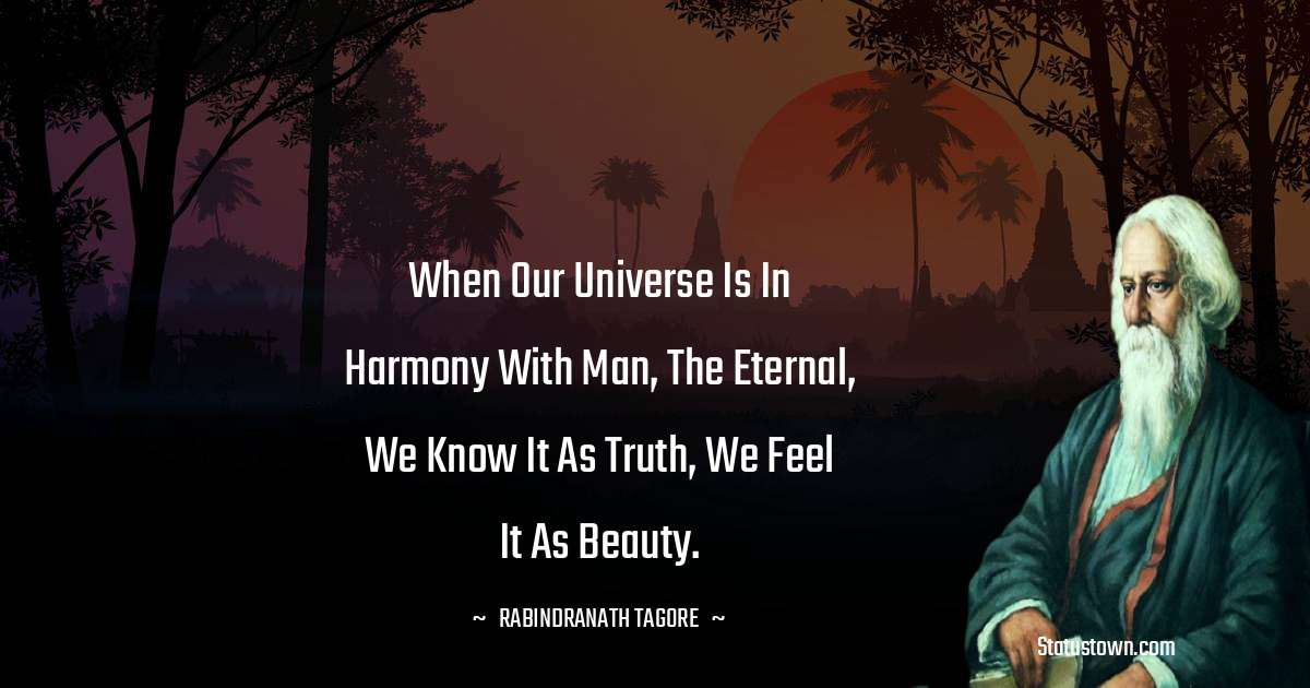 Rabindranath Tagore Positive Thoughts