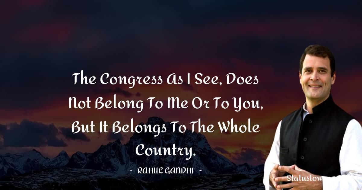 Rahul Gandhi Status