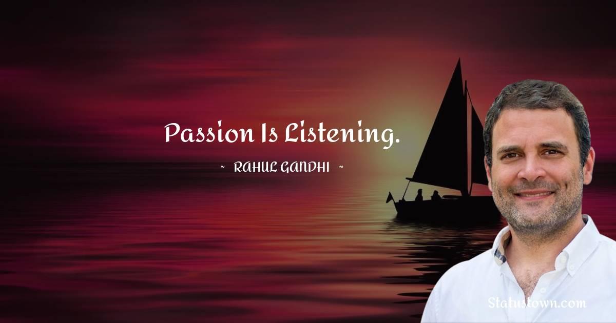Rahul Gandhi Inspirational Quotes