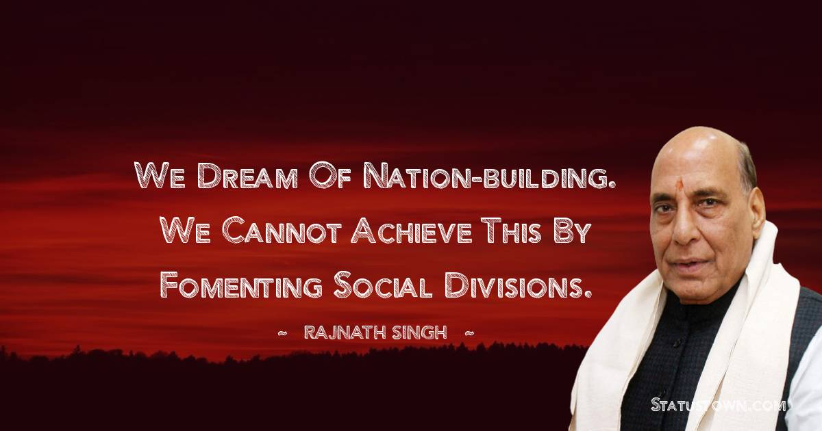 Rajnath Singh Positive Thoughts